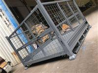 直销钢制网格料箱物流中转笼大号铁箱
